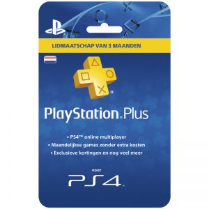 PlayStation Plus Card 3 Maanden NL